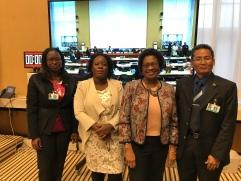 Surinaamse delegatie met Mrs Bethel